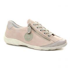 Chaussures femme été 2018 - tennis Remonte rose taupe