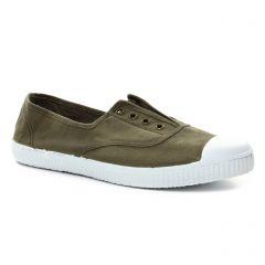 tennis vert kaki: même style de chaussures en ligne pour femmes que les Victoria