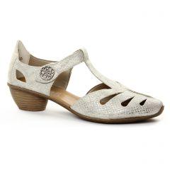 trotteurs-babies blanc argent: même style de chaussures en ligne pour femmes que les Rieker
