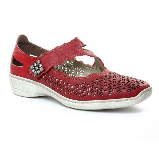 Babies Rieker 413G4 Rosso, vue principale de la chaussure femme
