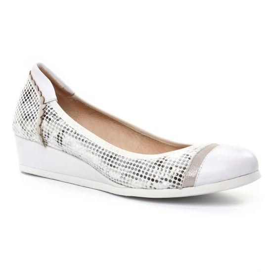 Ballerines Fugitive Falco Blanc, vue principale de la chaussure femme