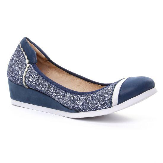 Ballerines Fugitive Falco Bleu, vue principale de la chaussure femme
