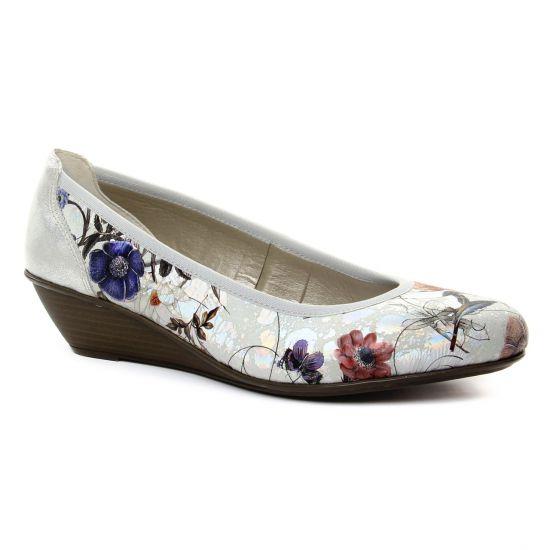 Ballerines Rieker 43275 Off White, vue principale de la chaussure femme