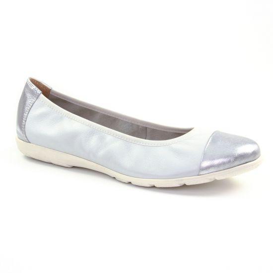 Ballerines Caprice 22152 White Metal, vue principale de la chaussure femme