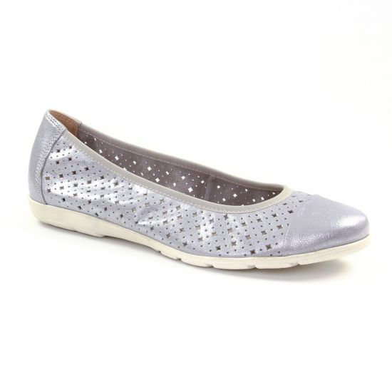 Ballerines Caprice 22151 Silver Metal, vue principale de la chaussure femme