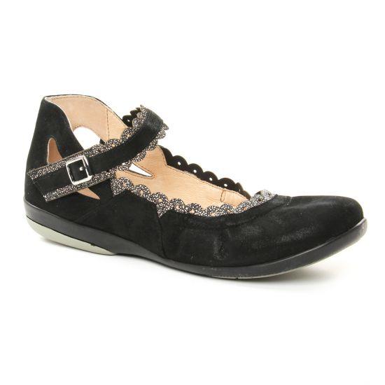 Ballerines Fugitive Jared Noir, vue principale de la chaussure femme