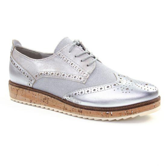 Chaussures À Lacets Marco Tozzi 23726 Silver, vue principale de la chaussure femme