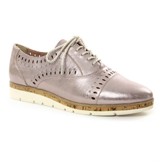 Chaussures À Lacets Marco Tozzi 23504 Mauve, vue principale de la chaussure femme