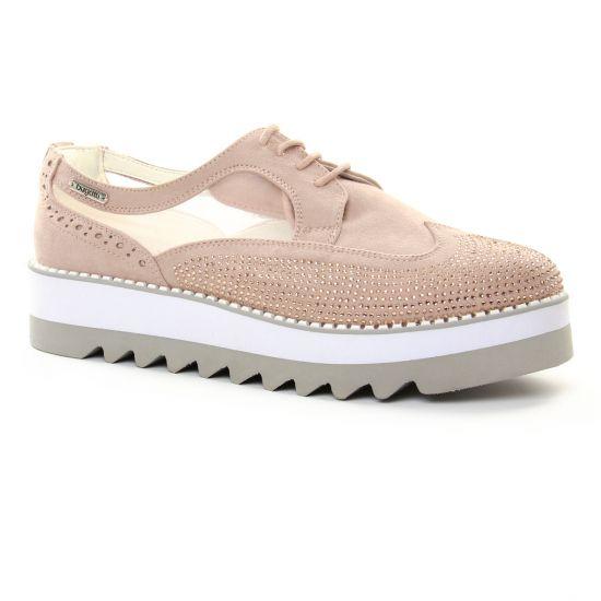 52bd06553fc174 Chaussures À Lacets Bugatti 41104 Rose, vue principale de la chaussure femme