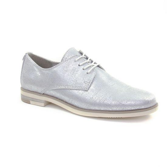 Chaussures À Lacets Marco Tozzi 23202 Light Grey, vue principale de la chaussure femme
