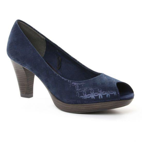 Escarpins Marco Tozzi 29302 Navy, vue principale de la chaussure femme