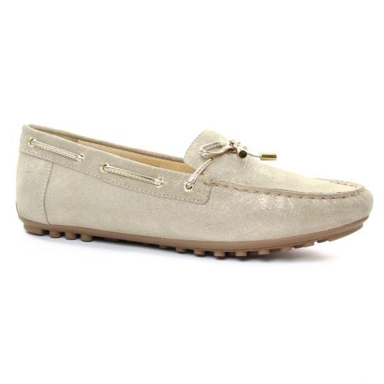 Mocassins Geox D724Ra Beige, vue principale de la chaussure femme
