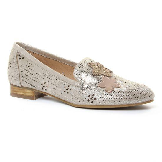Mocassins Mamzelle Zaro Taupe, vue principale de la chaussure femme