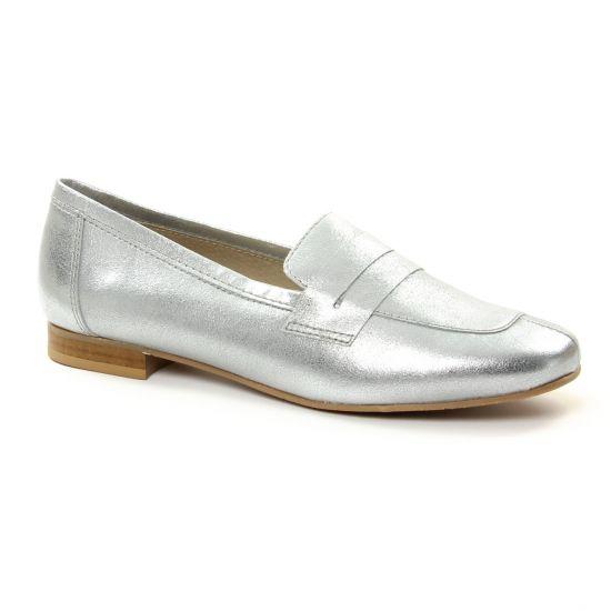 Mocassins Pintodiblu 10840 Argent, vue principale de la chaussure femme