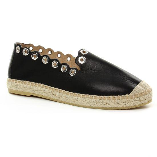Espadrilles Kanna 8007 Noir, vue principale de la chaussure femme