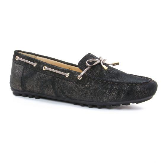 Mocassins Geox D724Ra Noir, vue principale de la chaussure femme