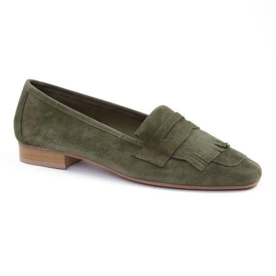 Mocassins Scarlatine 11029 Y Herbe, vue principale de la chaussure femme
