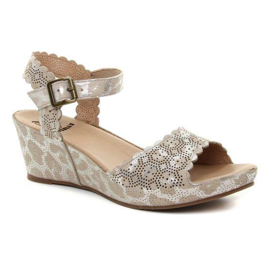 Nu Pieds Et Sandales Mamzelle Douga Taupe, vue principale de la chaussure femme