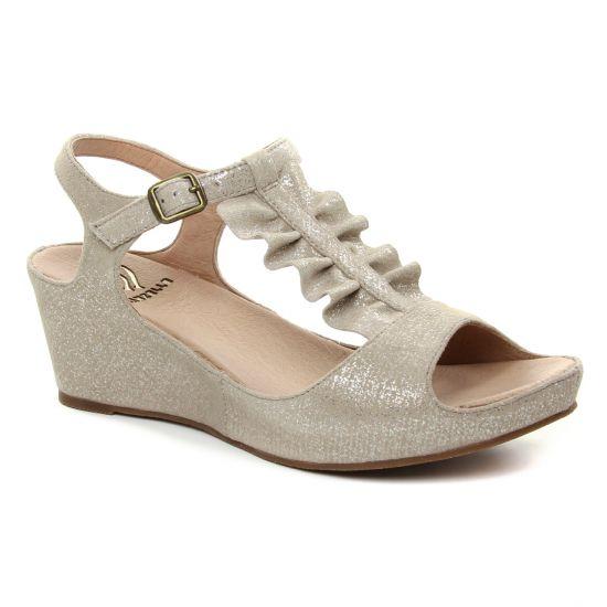 Nu Pieds Et Sandales Mamzelle Drapo Taupe, vue principale de la chaussure femme