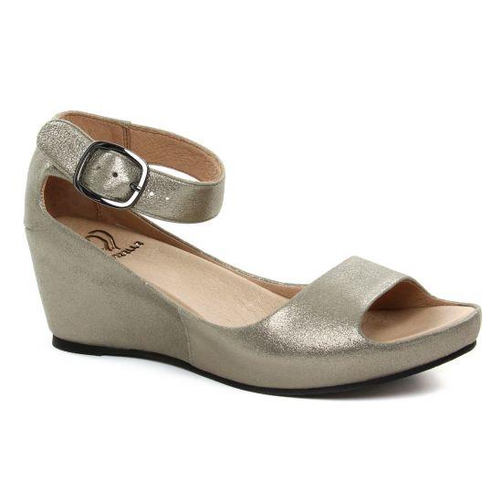 Nu Pieds Et Sandales Mamzelle Pantin Etain, vue principale de la chaussure femme