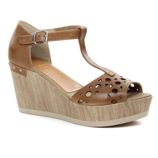 Nu Pieds Et Sandales Dorking Salna 7489 Cuero, vue principale de la chaussure femme