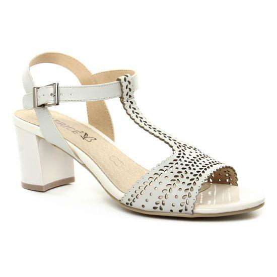 Caprice 28301 White | nu pied talon blanc printemps été chez