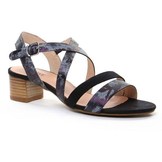 Nu Pieds Et Sandales Fugitive Lerate Noir, vue principale de la chaussure femme