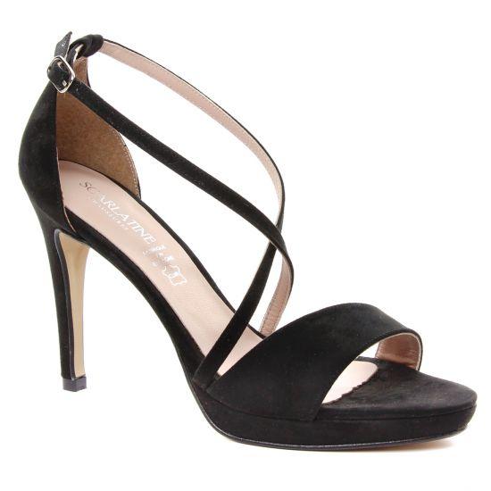 Nu Pieds Et Sandales Scarlatine 1387 Noir, vue principale de la chaussure femme
