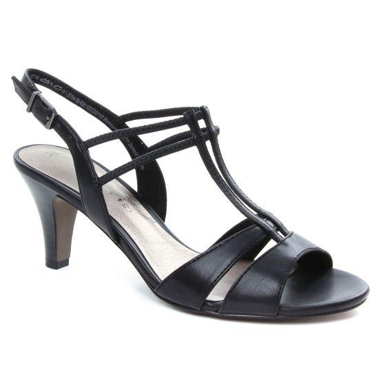 Nu Pieds Et Sandales Tamaris 28304 Black, vue principale de la chaussure femme