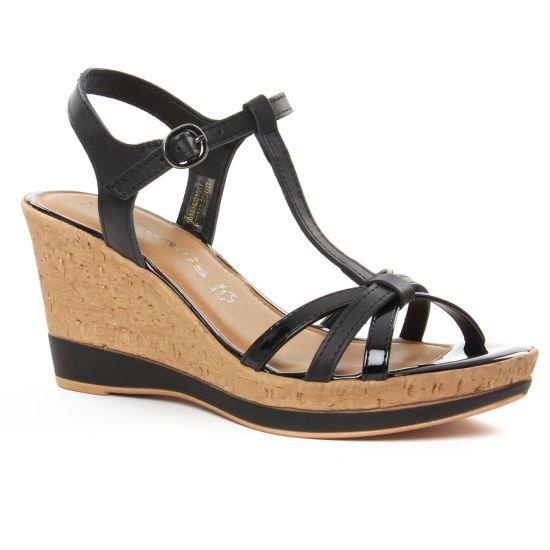 Femme Sandales et Nu pieds Tamaris 25006 Noir,tamaris bottes