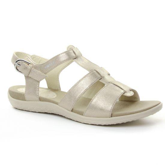 Nu Pieds Et Sandales Geox D82R6B Taupe, vue principale de la chaussure femme