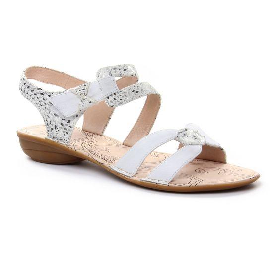 Nu Pieds Et Sandales Fugitive Alera Blanc, vue principale de la chaussure femme