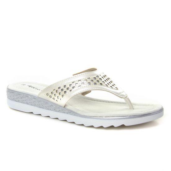 Nu Pieds Et Sandales Tamaris 27119 Pearl Silver, vue principale de la chaussure femme