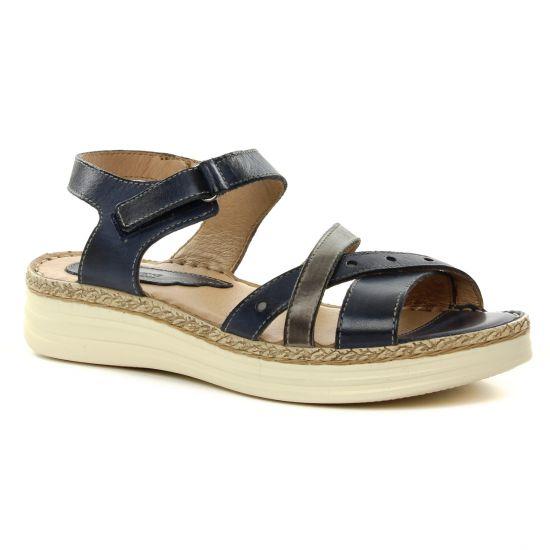 Nu Pieds Et Sandales Dorking Varadero 7544 Jeans, vue principale de la chaussure femme