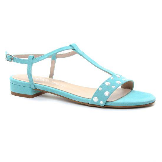 aspect esthétique bons plans sur la mode détails pour Scarlatine 1408 Ciel | sandales bleu turquoise printemps été ...