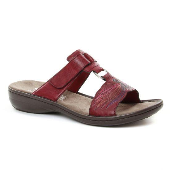 dd3690ce572ad3 Nu Pieds Et Sandales Rieker 608X3 Wine, vue principale de la chaussure femme