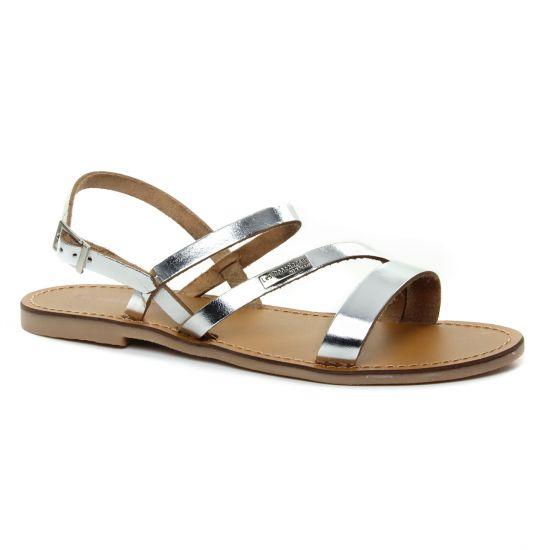 Nu Pieds Et Sandales Les Tropeziennes Baden Argent, vue principale de la chaussure femme