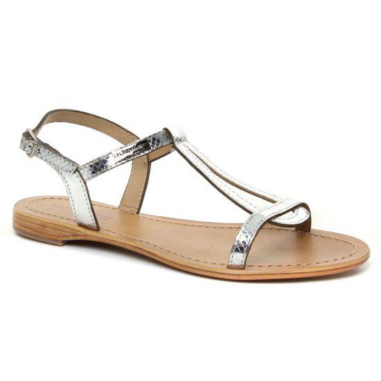 Nu Pieds Et Sandales Les Tropeziennes Hamat Argent Serpent, vue principale de la chaussure femme