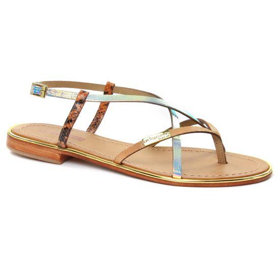 Nu Pieds Et Sandales Les Tropeziennes Monaco Orange Irise, vue principale de la chaussure femme