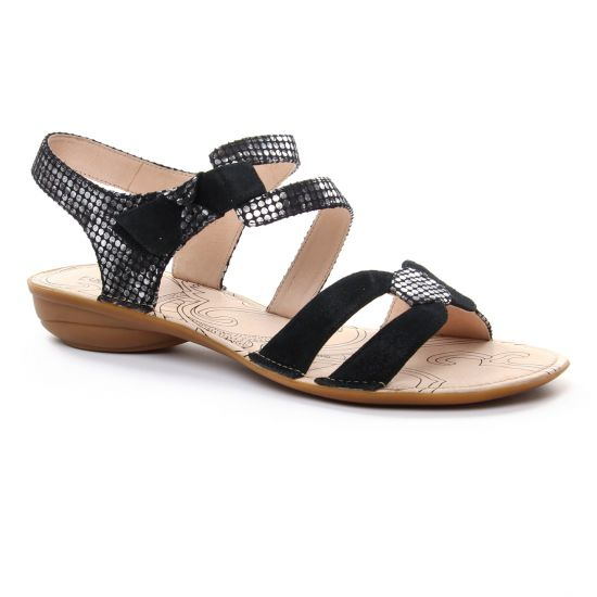 Nu Pieds Et Sandales Fugitive Alera Noir, vue principale de la chaussure femme