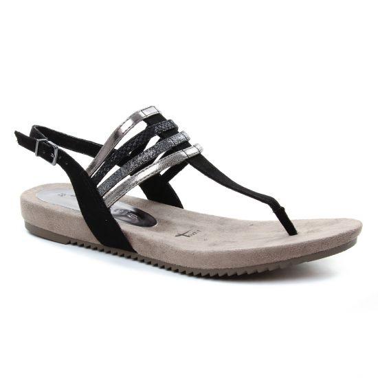 Nu Pieds Et Sandales Tamaris 28634 Black, vue principale de la chaussure femme