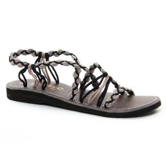 La Marine Idya Taupe | sandales noir beige printemps été