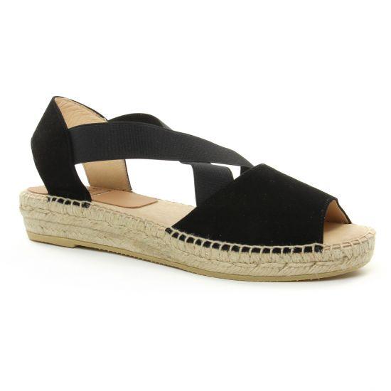 Espadrilles Kanna 4361 Noir, vue principale de la chaussure femme