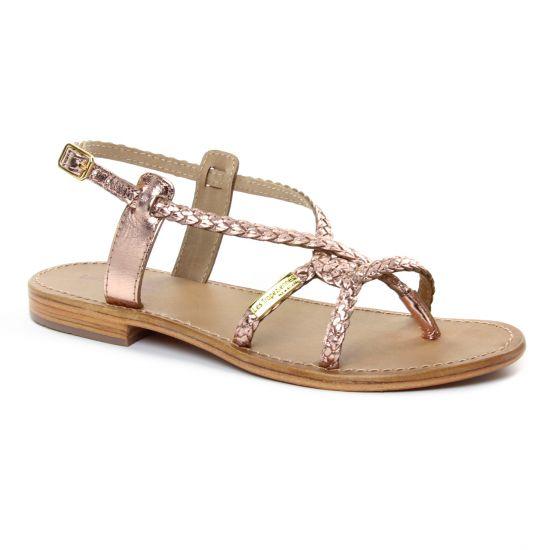 Nu Pieds Et Sandales Les Tropeziennes Bahamas Or Rose, vue principale de la chaussure femme