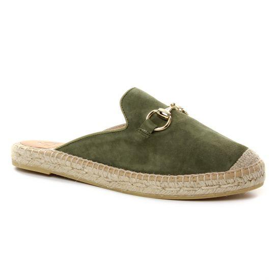 Espadrilles Kanna 7009 Kaki, vue principale de la chaussure femme