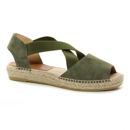 0262ba8e8e6fe5 Espadrilles Kanna 4361 Kaki, vue principale de la chaussure femme