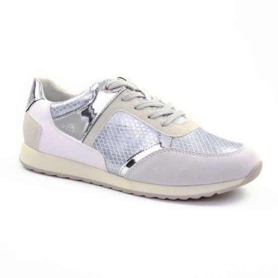 Tennis Et Baskets Mode Geox D826Fb Off White, vue principale de la chaussure femme
