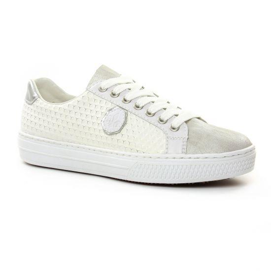 Tennis Et Baskets Mode Rieker L59B4 White, vue principale de la chaussure femme