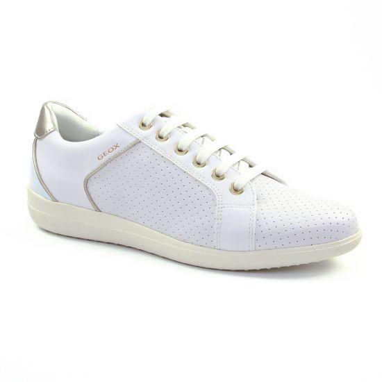 Tennis Et Baskets Mode Geox D827Lc White, vue principale de la chaussure femme