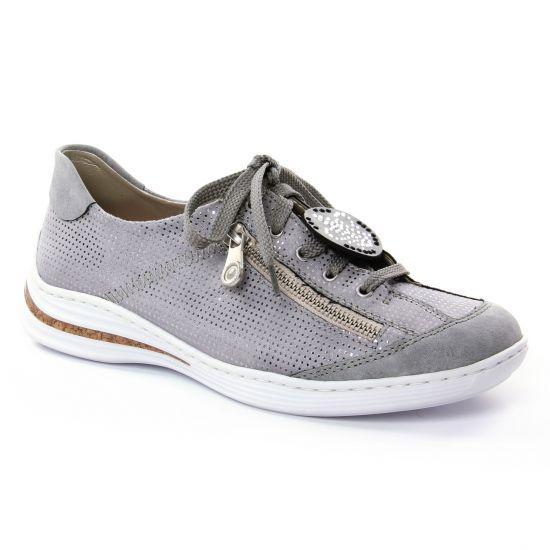 Tennis Et Baskets Mode Rieker M3518 Cement, vue principale de la chaussure femme